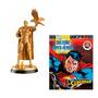 Miniatura Superman Golden Superman Dc Comics 15 Cm + Revista