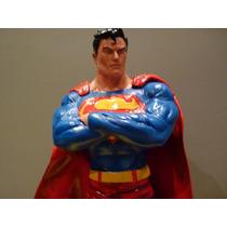 Boneco Superman Em Resina Novo