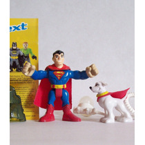 Bonecos Superman E Krypto Imaginext Dc Super Friends