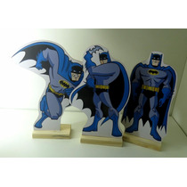 Kit 3 Displays Mesa Do Batman Totem Mdf Festa Bolo Enfeite