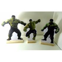 Kit 3 Displays Mesa Do Hulk Totem Mdf Festa Bolo Enfeite