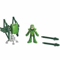 Imaginext Figuras Liga Da Justiça Arqueiro Verde Launcher