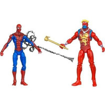 Marvel Universe Spider-man Vs Captain Britain 39838 Hasbro