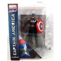 Boneco Capitão América 2 - Marvel Select Captain America