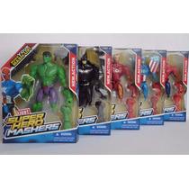 5 Bonecos Vingadores Super Hero Mashers Batman Homem Aranha