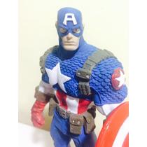 Vingadores - Capitão America Em Resina Maciço Impecável!!!