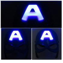 Capitão America Kit Máscara Com Luzes E Escudo