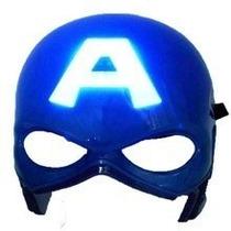 Máscara Capitão América Vingadores Led 20cm