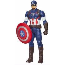 Boneco Articulado Capitão América Eletrônico 30cm Hasbro