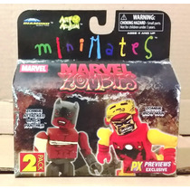 Tk0 Toy Minimates Marvel Zombies 2pk Black Panther Iron Man