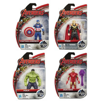 Pack 4 Hulk Iron Man Thor Cap America Avengers Age Of Ultron
