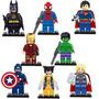 Os Vingadores E Super Homen Homen Aranha Wolverine Tipo Lego