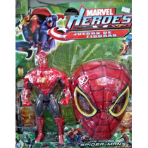 Boneco Homem Aranha 16 Cm + Máscara Spiderman Marvel Heroes