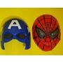 Mascara Infantil Homem Aranha & Capitão America Vingador