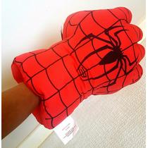 Homem Aranha Mãos Luvas Pelúcia Almofada 28cm