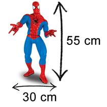 Boneco Homem Aranha Vermelho Articulado Marvel Gigante 55 Cm