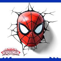 Luminária 3dlight Fx Cabeça Homem Aranha Spider Man Hasbro