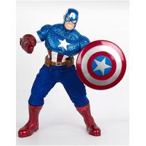 Boneco Gigante Capitão América Premium 55cm Marvel