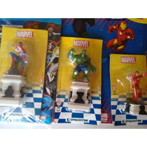 Miniaturas Homem Aranha Hulk Homem De Ferro - 1, 2 E 3.