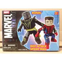 Tk0 Toy Minimates Marvel 2pk Ronin & Riot Attack Spider Man