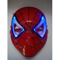 Máscara Spider Man Homem Aranha Com Led Liga Desliga