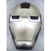 Mascara Cosplay Homem De Ferro Com Luz
