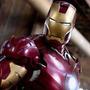 Homem De Ferro 2 - Cabeça Móvel - Leds - Altura Aprox. 10cm