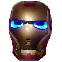 Mascara Iron Man Vingadores Homem De Ferro Led 20cm