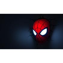 Luminária Avengers Máscara Homem Aranha - 3d Light Fx