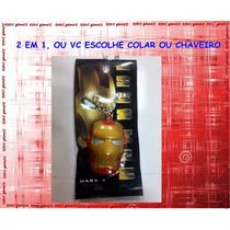 Colar E Chaveiro 2 Em1 Iron Man
