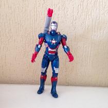 Boneco Iron Man 3 - Patriota De Ferro Azul - 25cm