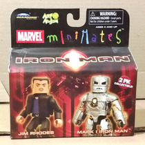Tk0 Toy Minimates Marvel 2pk Iron Man Jim Rhodes & Mark I