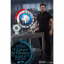 Iron Man 2 Tony Stark With Arc Reactor Creaction - Hot Toys