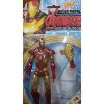 Boneco Iron Man Homem De Ferro 15cm Era Ultron Vingadores 2
