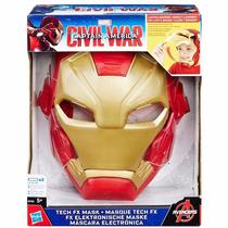 Máscara Eletrônica Guerra Civil Homem De Ferro
