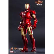 Iron Man Mark 3 Iii Diecast Hot Toys Novo, Lacrada, Lote Eua
