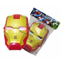 Brinquedo Mascara Homem De Ferro Iluminada Crianças/adultos