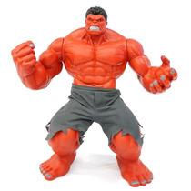 Boneco Red Hulk Vermelho Premium Grande 55cm Marvel Ecoop