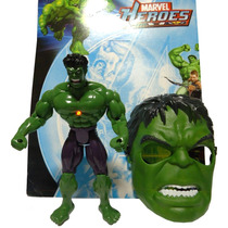 Boneco Do Incrível Hulk Com 25cm + Máscara Incrível Hulk