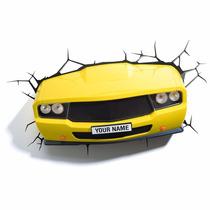 Camaro Amarelo, Farol Led Luminária Led 3d Light Fx Carros