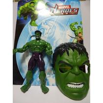 Boneco E Mascara Hulk Marvel Brinquedo Avenger Vingadores