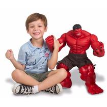 Boneco Hulk Vermelho 51 Cm Articulado Premium Marvel Mimo