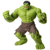 Boneco Hulk Verde Premium Marvel 55 Cm Articulado Mimo