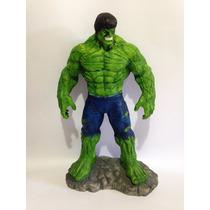 Boneco Hulk Em Resina Artesanato Pintado A Mão Super Herói
