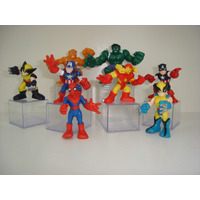 Wolverine Hulk Iron Man Coisa Vingadores Marvel Squads