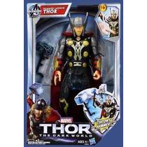Boneco Thor Eletrônico Fala E Atira O Martelo