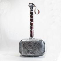 Martelo Thor Mjolnir Replica Fibra De Vidro E Couro