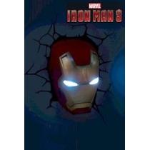 Luminária Homem De Ferro Vingadores Iron Man Marvel Máscara