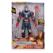 Iron Man 3 Eletrônico Arc Strike Iron Patriot Hasbro 27 Cm