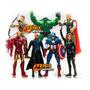 Kit 7 Bonecos Vingadores The Avengers Grandes E Articulados
